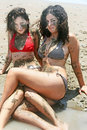 Dirty girls Royalty Free Stock Photo