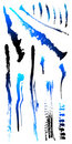 Dirty grunge scratch splat spot cracked Shapes 2 Royalty Free Stock Photo