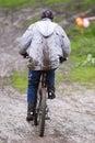 Dirty mountain biker Royalty Free Stock Photo