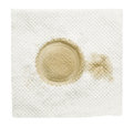Dirty napkin with stain isolated on a white Royalty Free Stock Image
