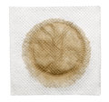 Dirty napkin with stain isolated on a white Royalty Free Stock Photos