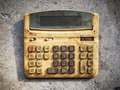Dirty old calculator Royalty Free Stock Images