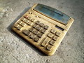 Dirty old calculator Stock Photos