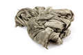 Dirty rag on a white background Royalty Free Stock Photography
