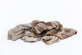 Dirty rag on a white background Stock Image
