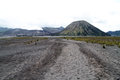 Dirty road wide to botok and bromo volcanoes indonesia Stock Photography