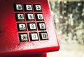 Dirty stains on dialing telephone keypad Royalty Free Stock Photo