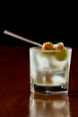 Dirty vodka martini Royalty Free Stock Photo