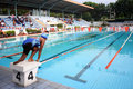 With disabilities a athlete pool swimming following the championship in solo central java indonesia Stock Photography