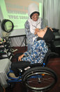 Disability expo in indonesia people with disabilities who exhibit their business products at the surakarta central java according Stock Image