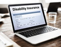 Disability Insurance Claim Form Document Concept Royalty Free Stock Photo