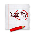 Disability transforming into ability positive thinking motivational concept Stock Photography