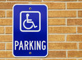 Disable sign post Stock Photo