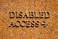 Disabled Access Stock Image