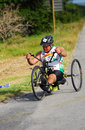 Disabled athlete at Ironman Royalty Free Stock Images