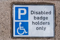 Disabled badge holders only Royalty Free Stock Photo