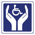 Disabled care sign vector Stock Photos
