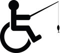 Disabled fishing icon Royalty Free Stock Photo