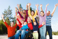 Disabled Man With Group Of Peo...