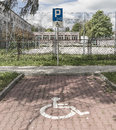 Disabled parking Royalty Free Stock Photo