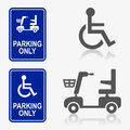 Disabled person icon set Royalty Free Stock Photo