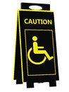 Disabled person warning sign on a white background Royalty Free Stock Image