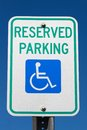 Disabled Reserved Parking Sign Royalty Free Stock Photography
