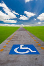 Disabled sign board Royalty Free Stock Image