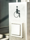 Disabled sign door opener Royalty Free Stock Images