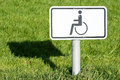 Disabled sign at a park Royalty Free Stock Images