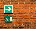 Disabled signs posted amsterdam europe Royalty Free Stock Photography