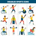 Disabled Sports Icons Royalty Free Stock Photo