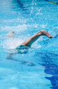 Disabled swimmer Royalty Free Stock Photos