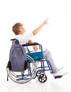 Disabled teen boy Royalty Free Stock Images