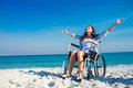 Disabled Woman With Arms Outst...