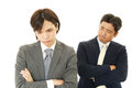 Disappointed asian businessmen tired and stressed Stock Photo