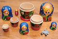 Disassembled nesting doll with keys