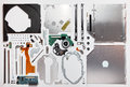 Disassembled optical drive cd dvd rom Royalty Free Stock Photo