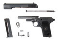 Disassembled tt-t traumatic gun Royalty Free Stock Photo