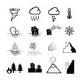 Disaster nature power icons