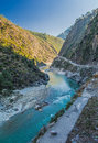After disaster a river flood in uttrakhand happened in june causing around peoples death and missing Royalty Free Stock Photography