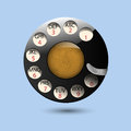 Disc dials of old retro phone Royalty Free Stock Photography