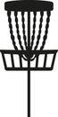 Disc golf basket Royalty Free Stock Photo