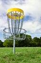 Disc golf hole Royalty Free Stock Photo