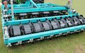 Disc harrow a modern agricultural farming trailer Royalty Free Stock Images