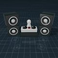 Disc jockey on turntables d illustration Royalty Free Stock Image