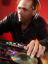 Disc Jockey at work. Stock Photography