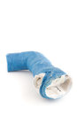 Discarded Blue Fiberglass Arm Cast Royalty Free Stock Photos