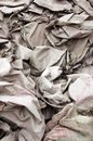 Discarded cement bags Royalty Free Stock Photos