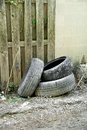 Discarded Tires Royalty Free Stock Photo